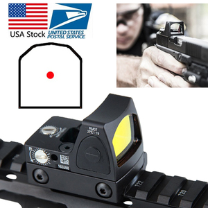 US Stock Mini RMR Red Dot Sight Collimator Glock Reflex Sight Scope fit 20mm Weaver Rail For Airsoft Hunting Rifle RL5-0004-2(China)