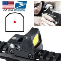US Stock Mini RMR Red Dot Sight Collimator Glock Reflex Sight Scope fit 20mm Weaver Rail For Airsoft Hunting Rifle RL5 0004 2