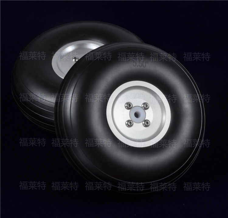 "1 pair Sky-Fly RC Model PU Wheels With Aluminum Hub Multi-size 1"" to 8.5"""