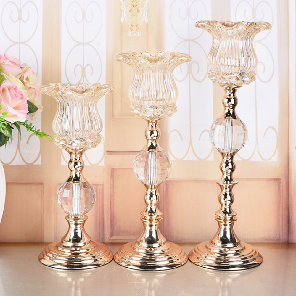 Creative metal single candle holder wedding centerpiece