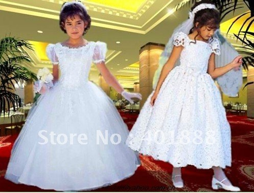 free shipping beautiful flower girl dresses
