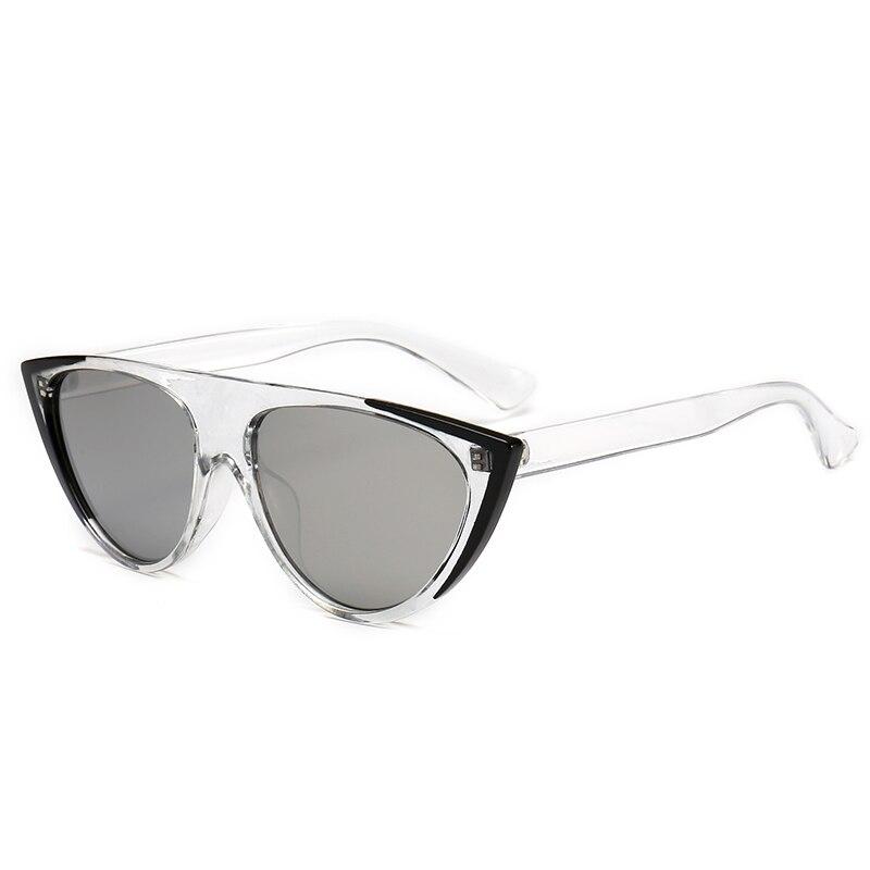 New 2019 Stylish Cat Eye Sunglasses Women Mens UV400 Mirror Glasses Red Flat Top Unique Eyewear Oculos De Sol Black Leopard in Women 39 s Sunglasses from Apparel Accessories