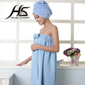 GEPOSEN Bathroom 100% Microfiber Bowtie Bath Towel Shower Cap Suit Superfine Fiber Bath Skirt Set Dry Towel Plain Solid