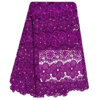 2016 New High Quality in Tulle Lace French Lace Fabric in Modern Design for Wedding Party Nice Dress lace fabric Purple Color