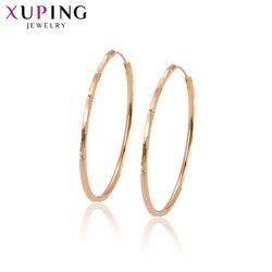 11.11 xuping moda elegante aros brincos rosa cor de ouro chapeado requintado jóias para mulher christmasgifts S49.2-97312