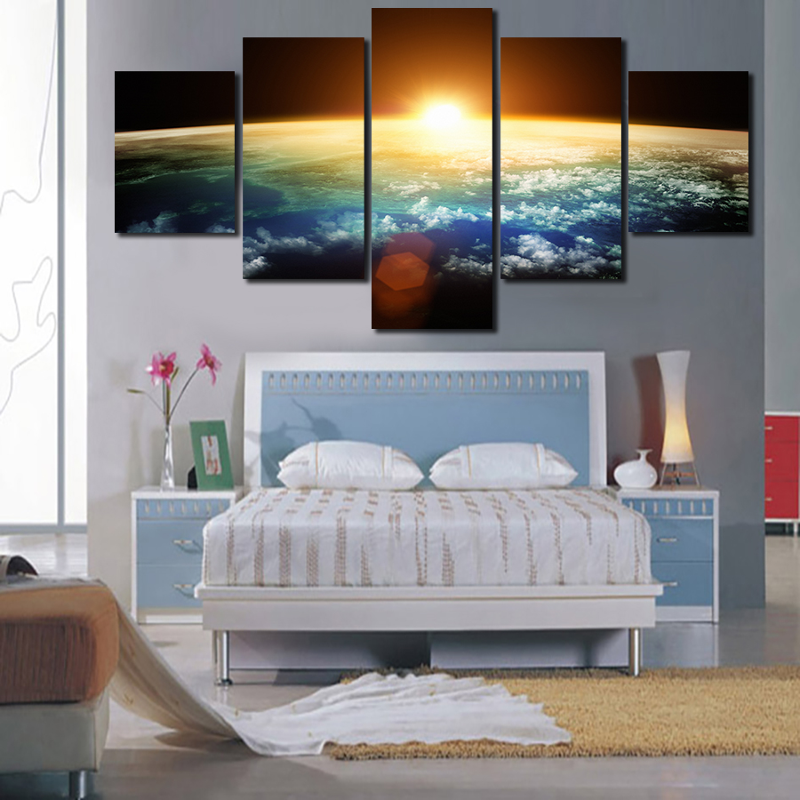 art deco wall decor promotionshop for promotional art deco wall  -  panels hd the dawn of the universe panel modern home decoration canvaspainting wall art deco free delivery unframed