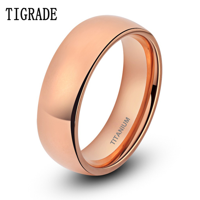 comfort bands rings couple size amazon wedding dome fit women polished men to titanium dp com crownal