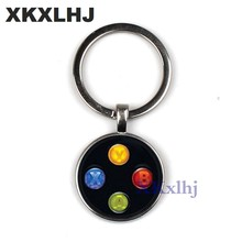 XKXLHJ Brand Game controller key chain geeky boyfriend perfect gift idea jewelry video game controller pattern keychain(China)