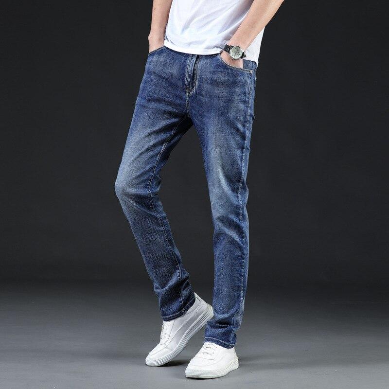 Icpans Gloria jeans Men Stretch Casual Men's Jeans Denim Summer Autumn Brand Clothes Jeans Long Trousers Big Size 42 44 46 New