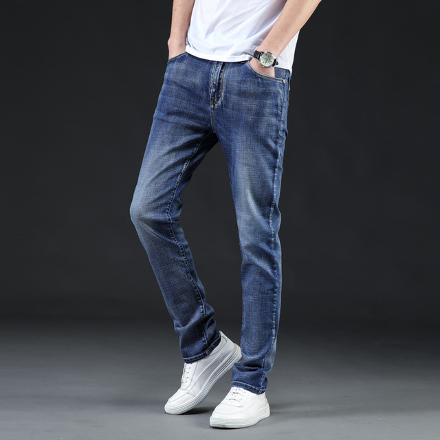 Icpans Gloria jeans Men Stretch Casual Men's Jeans Denim Summer Autumn Brand Clothes Jeans Long Trousers Big Size 42 44 46 New