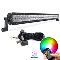 Mictuning LED Light Bar 52inch RGB 5D 300W Reflector Combo Beam Color Changing by Bluetooth App Control & Free Wire Harness