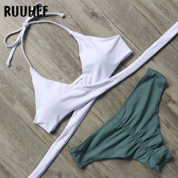 RUUHEE Bikini Set Swimsuit Swimwear Women Bikini Sexy Bandage Beachwear Padded Bathing Suit Push Up 2018 Swimming Suit For Women