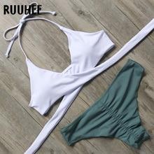 Bandage Padded Push Up Swimming Suit