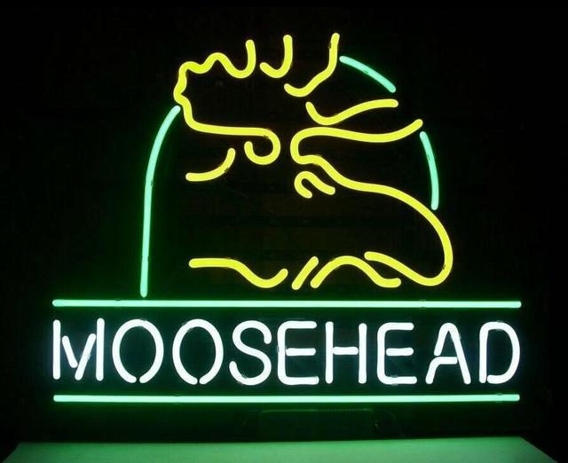 Custom Moosehead Lager Deer Neon Light Sign Beer Bar