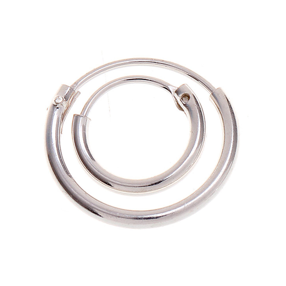 jewelry in item hoop woman earrings man hinged clip small for sterling men silver earring from hoops stud and sleeper
