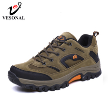 VESONAL 2020 جديد الخريف الشتاء أحذية رياضية حذاء رجالي في الهواء الطلق المشي لمسافات طويلة مريحة شبكة تنفس الذكور الأحذية عدم الانزلاق