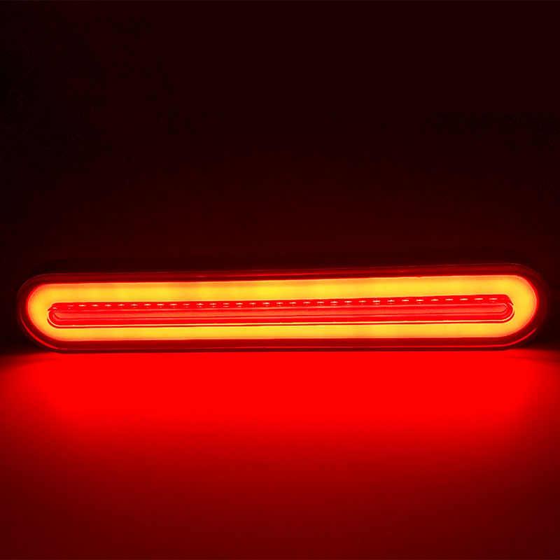 2x su geçirmez LED römork kamyon fren lambası 3 in1 Neon ışık halkası kuyruk fren dur dönüş sıralı akan sinyal ışığı lambası