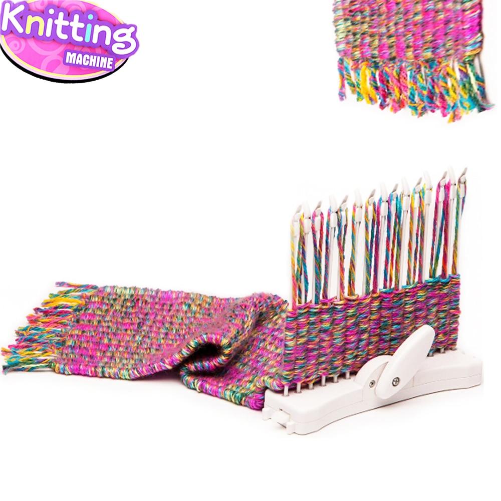 Moda bufanda tejer máquina de tejer telar de punto herramienta ...