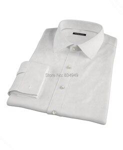 Image 2 - Tailored Mens Dress เสื้อ 2018 CUSTOM Made สีขาวแขนยาวเสื้องานแต่งงาน Homme Manche Longue De luxe