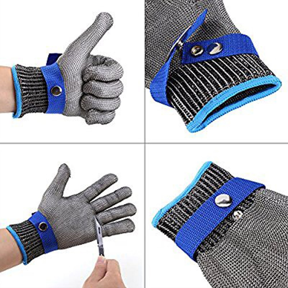 Stainless steel wire safety gloves cut-resistant metal mesh butcher cutting breathable work gloves 30 new 1 pcs cut resistant stainless steel gloves working safety gloves metal mesh anti cutting for butcher worker