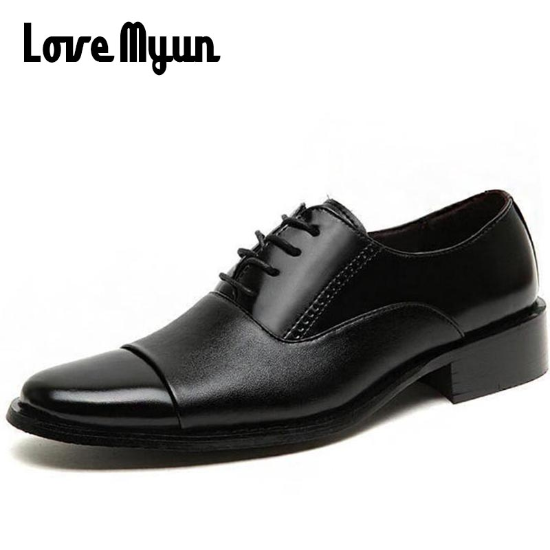 Mature mens leather shoes mens dress business shoes wedding Working Office dad shoes lace up Oxfords big size 46 47 AA-82