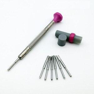 Image 2 - Ücretsiz kargo paslanmaz çelik T bıçak tornavida seti ile 6 için yedek bıçaklar İzle onarım