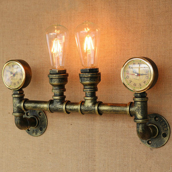 American Country Retro Loft Style Industrial Wall Light Fixtures Appliques Murale Water Pipe Lamp Vintage Wall Sconce