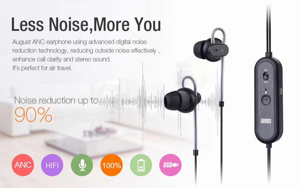 Active Noise Cancelling Earphones