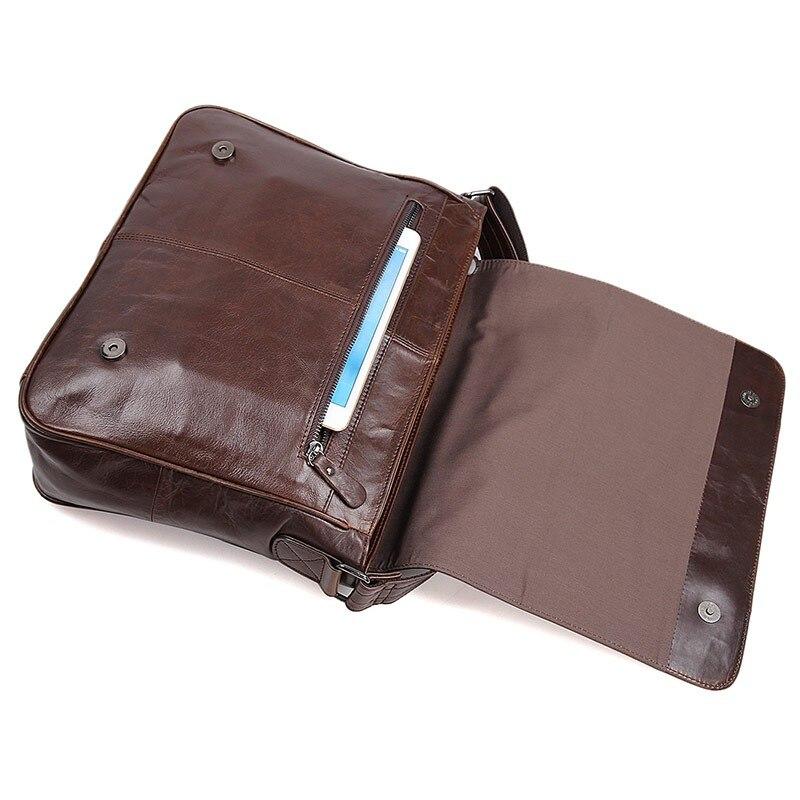 J.m.d curtido couro masculino bolsa mensageiro sacos