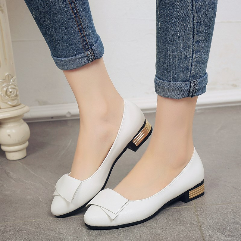 Spring Summer Fashion Women Shoes Pointed Toe Slip-On Flat Shoes Woman Comfortable Single Casual Flats Size 35-40 zapatos mujer spring summer women leather flat shoes 2017 sweet bowtie flats women shoes pointed toe slip on ladies shoes low heel shoes pink