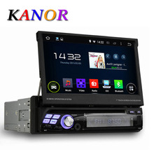 KANOR Quad Core Android 5 1 1 Single 1 Din Universal 7inch Car DVD Player Capacitive
