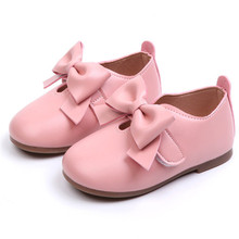 Fashion Girls Shoes Leather Soft Solid Princess Baby Kids Girls Shoes