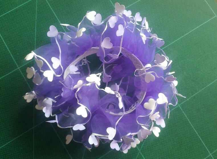 TS158ผสมขายส่งเด็กมาใหม่หัวใจดอกไม้ที่คาดผมผมเชือกยางวงเด็กสาวเด็กอุปกรณ์ผมน่ารัก