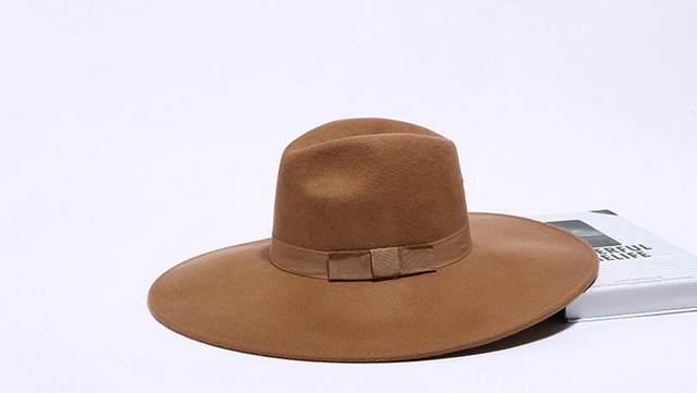 e5354174d1c Online Shop Adult Unisex Black Camel Wool Jazz Hat Men British ...
