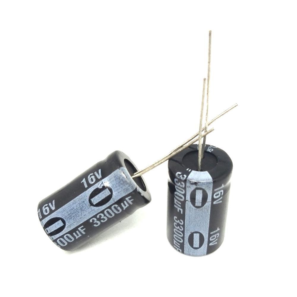 ¡De alta calidad! 30 unids/lote 3300 uF 16 V condensador electrolítico 16 V 3300 uF 13x20mm de aluminio kapasitor elektrolit ic.
