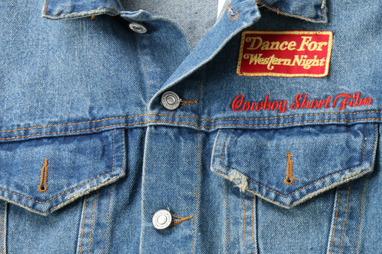 Denim 2017 Bleu Brodé Avant Texte Patch Mode Longues Nouvelle Imprimé Surdimensionné Rue Manteaux Et Veste Manches Poches Avec De AvAwxHprq