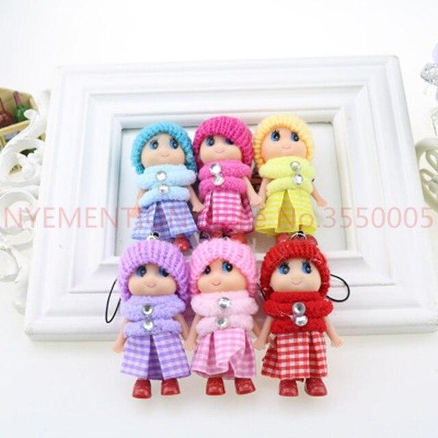 Crianças Brinquedo bonito PVC Boneca de brinquedo de Pelúcia do bebê dos desenhos animados da cadeia Chave Chaveiro Cadeia anel chave titular Presente Engraçado 500 pcs