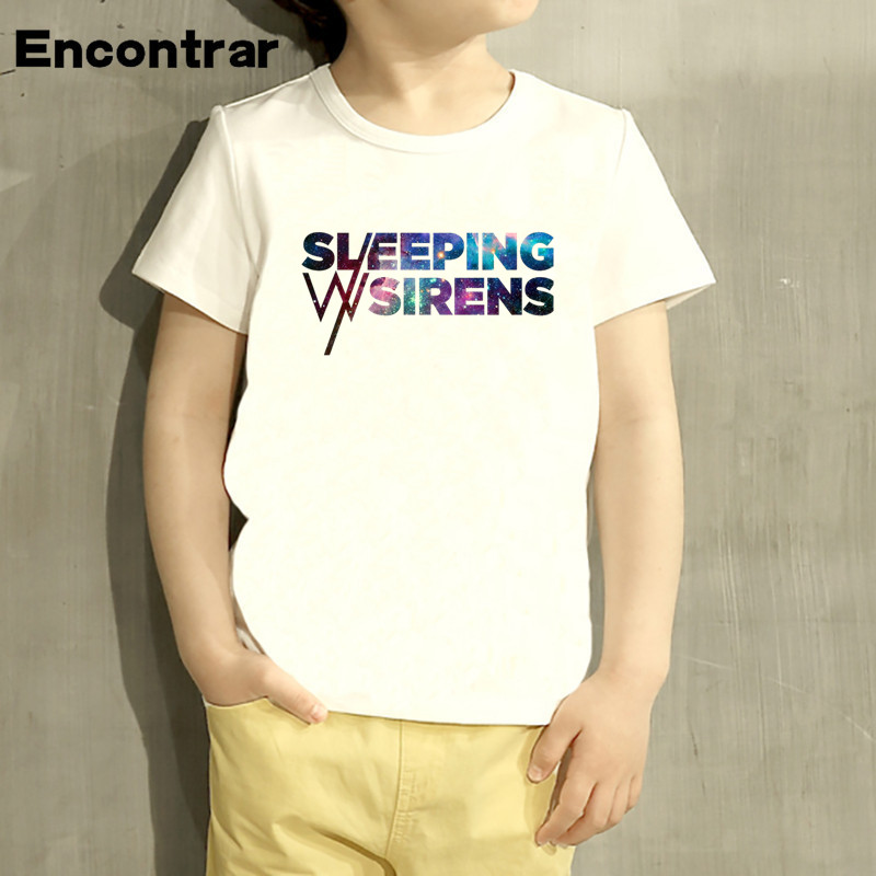 Kids Sleeping With Sirens Design Baby Boys/Girl TShirt Kids Funny Short Sleeve Tops Children Cute T-Shirt,HKP719