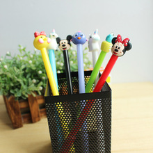 36PCS/set Black Ink Neutral Pen Cute Cartoon Signature Gel Originality Student Stationery Promotion Gift Kawaii
