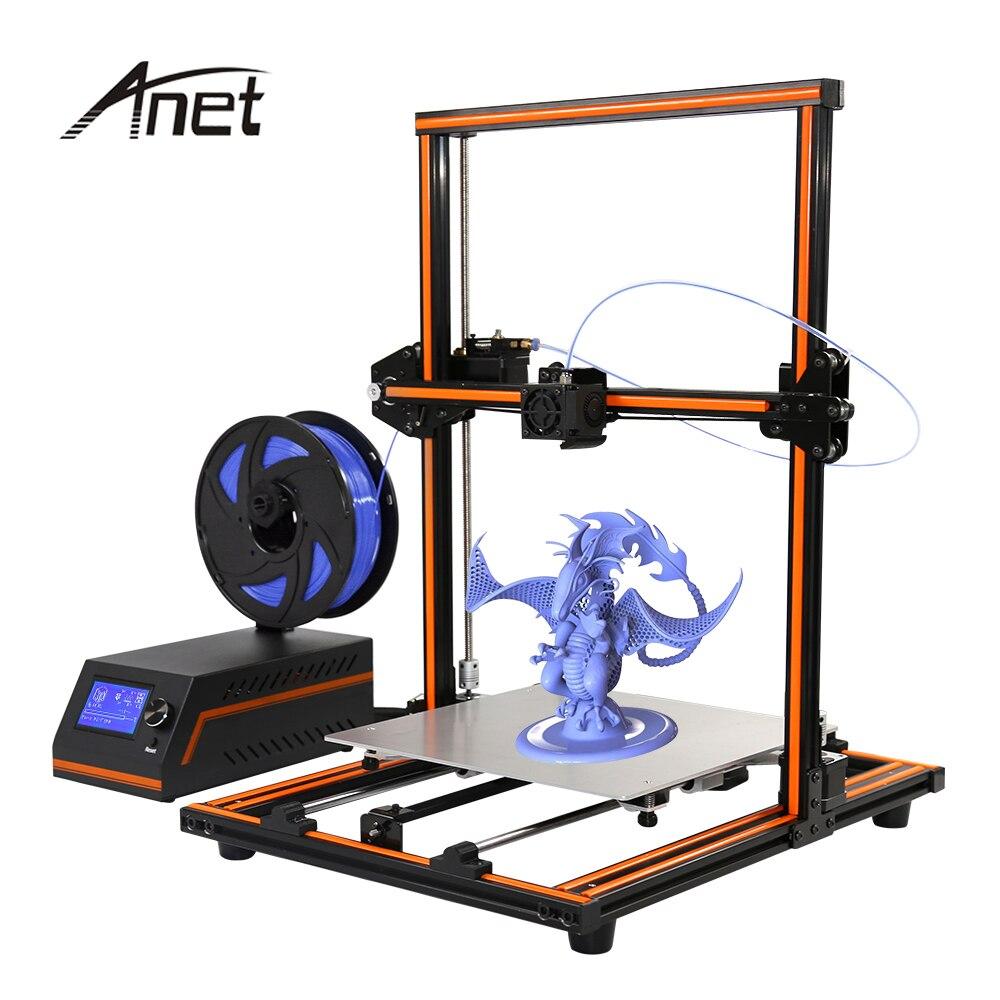 Anet E12 3d printer kit DIY impresora 3d Printing Size 300*300*400mm Reprap prusa i3 3d Printer with PLA 10m Filament 1 75mm pla 3d printer filament printing refills 10m