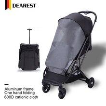 Милая детская коляска с одной рукой, складная детская коляска