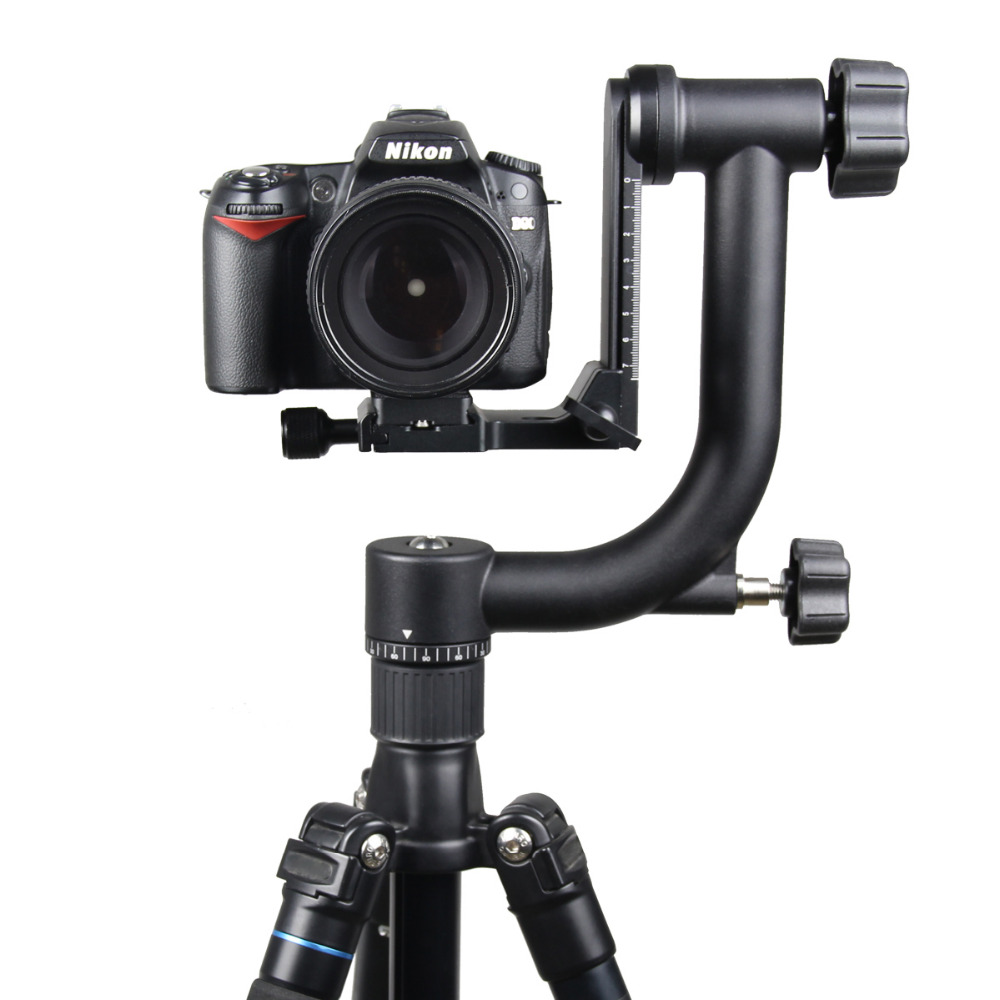 2016 Professional Aluminum Gimbal Tripod Head For Heavy Telephoto Lens DSLR Camera 360 Panoramic Swivel Tripod Head up to 10KG new sys700 aluminum professional tripod