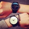 2016 New Women Watch Moda Quartz Relógios de Pulso ECG Criativo Couro Genuíno Men Sports Watch Relogio masculino Relógio Elegante