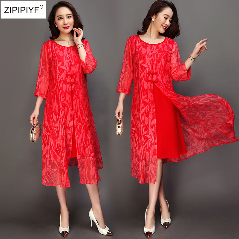 2018 Spring New Fashion Women Office Ladies Three Quarter Sleeve Elegant Rayon Sprint Dress Solid O