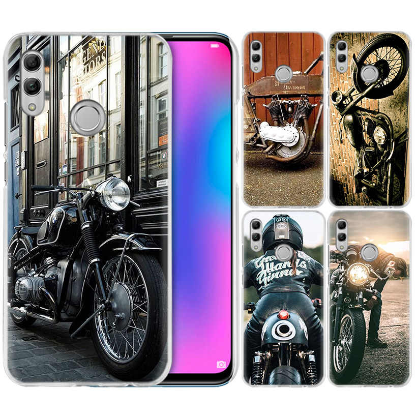 Classic Motorcycle Case for Huawei Honor 8X Y9 9 10 Lite Play 7C 8C 8S 8A 7S 7A Pro V20 20i Y6 Y7 Y5 2019 Hard PC Phone Cover