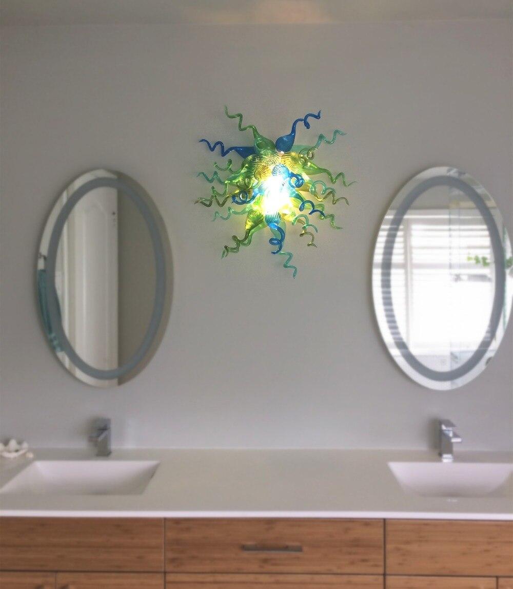 Klienta wykonane kolor/rozmiar ręcznie dmuchanego szkła Murano lampy ścienne LED podtynkowa kinkiety ścienne w Wewnętrzne kinkiety LED od Lampy i oświetlenie na Decorationartshop