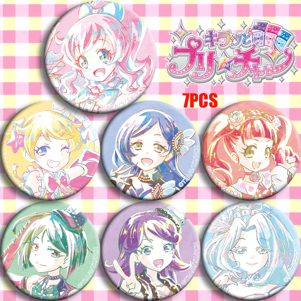 Anime Kiratto Pri Chan Pretty Channel Mirai Momoyama Cosplay Badge Cartoon Collect Bags Bedge For Backpack Button Brooch Pin NEW