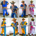 Vestuário africano Riche Africano Tambor Hot Estilo Desfile de Moda Terno Camisa Thai Eólica Nacional Dai Trajes Homens E Mais Crianças