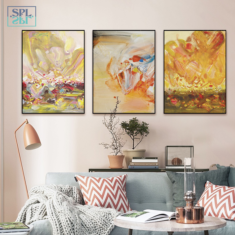 SPLSPL Modern Minimalist Abstract Painting Canvas Painting Art Print Poster Picture Wall Paintings Home Decoration Room Decor