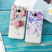 Red Purple Rose Silicon Phone Case For iphone X XS Max Back Cover Rose Floral Cases For iphone XR 6 6S 5 7 8 Plus(China)